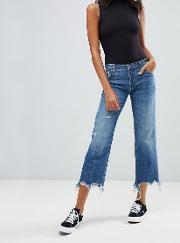 Maggie Mid Rose Straight Cut Jeans