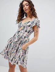 miss right printed dress