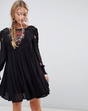 Mohave Embroidered Smock Dress
