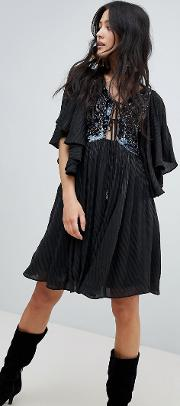 moonglow embellished mini dress
