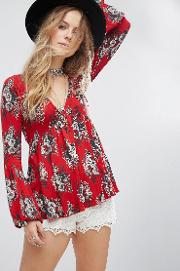 speak easy floral blouse