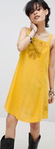 tulum cutwork slip dress