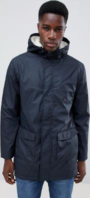 Fishtail Hooded Parka With Borg Lining