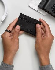 leather card holder with embossed logo