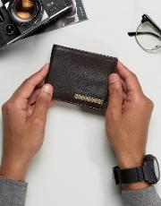 leather wallet with metal bar