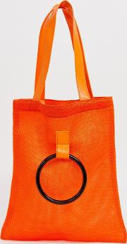 Mesh Shoppers Tote With Grab Handle