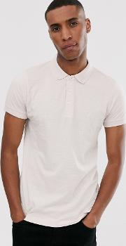 Solid Sleeve Polo Shirt