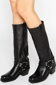 harness 15r leather knee high boots