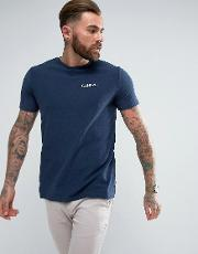 t shirt with small logo in navy