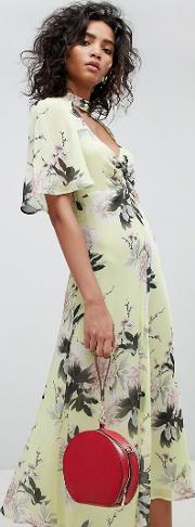 floral pretty tea dress