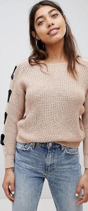 Bow Arm Tie Jumper