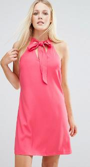 Tunic Dress With Keyhole Detail