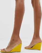 Bright Clear Detail Wedge Sandals
