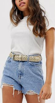 Exclusive Woven Waist And Hip Jeans Belt