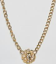 lion chain chunky gold necklace
