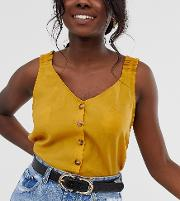 Mock Croc Waist And Hip Jeans Belt With Gold Double Buckle