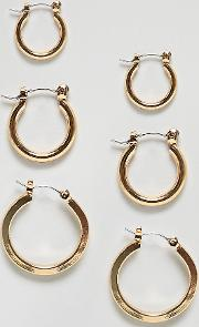 multipack gold hoop earrings