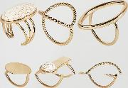 multipack gold rings