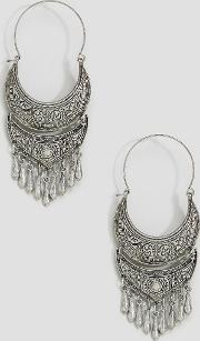 ornate festival hoop earrings