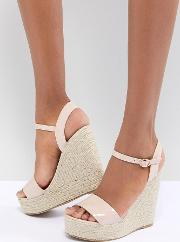 Patent Espadrille Wedge Sandals