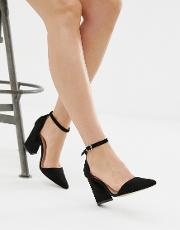 Pointed Block Heeled Shoes