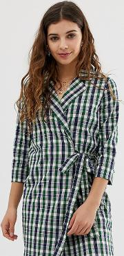 Wrap Front Shirt Dress