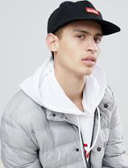 cap with logo patch front detail in black
