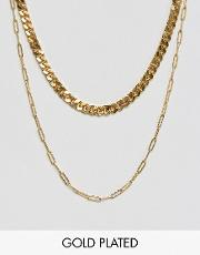Double Layered Gold Plated Necklace