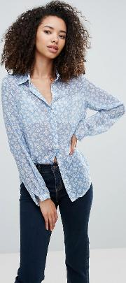 Olivia Ditsy Floral Printed Blouse