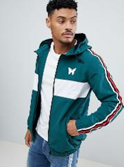 windbreaker  green with side stripe exclusive to asos