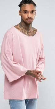 oversized t shirt with dropped shoulders