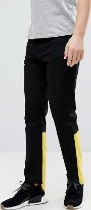Raw Edge Jeans With Contrast Panel