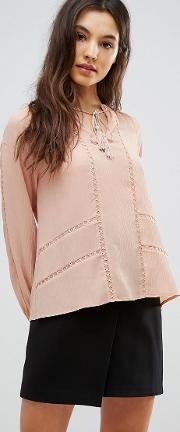 trina pleated blouse