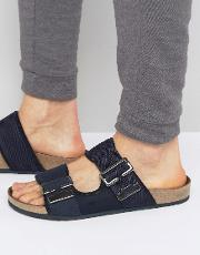 g star command buckle sandals in navy