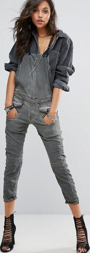 G Star Dungaree With Front Pockets And Contrast Strap