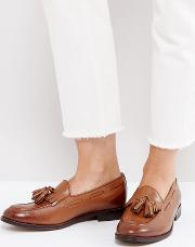 leather tassle loafers