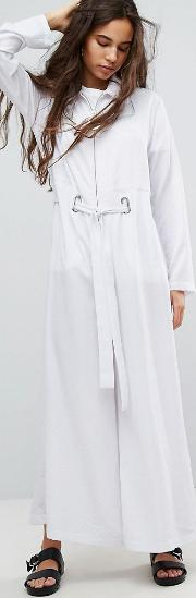 Wide Leg Jumpsuit With Eyelet Detail