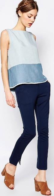 slit ankle trousers