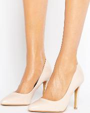 by dune alice nude patent heeled court shoes