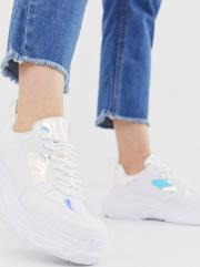 Head Over Heels Elyza Chunky Trainers With Irridescent Panels