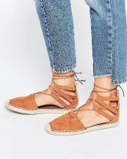 By Dune Tan Espadrille Sandals