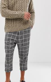 Drop Crotch Tapered Smart Trouser