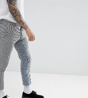 Skinny Cropped Trousers With Insert Stripe