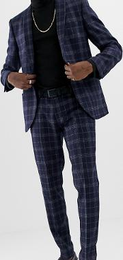Slim Fit Wool Mix Suit Trousers