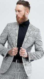 Slim Suit Jacket In Pow Check