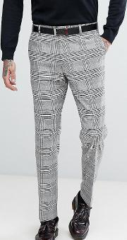 Slim Suit Trousers In Pow Check