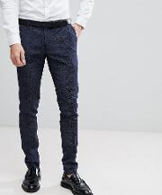 super skinny suit trousers  printed wool mix