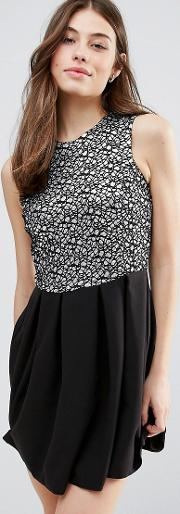 jacquard sparkle skater dress