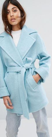 Wool Blend Yummy Belted Jacket