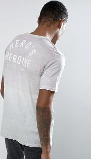 Gradient  Shirt With Back Print